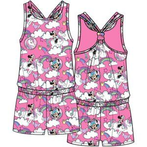 ✨Disney Girls Minnie Mouse & Unicorns Pink Romper